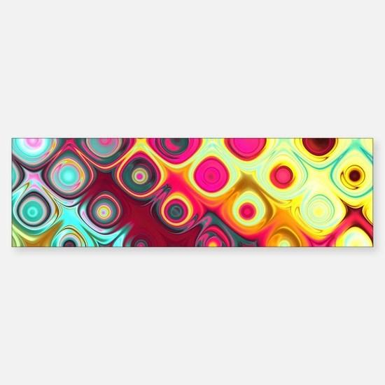 Megafunky Rainbow patterns Bumper Bumper Bumper Sticker