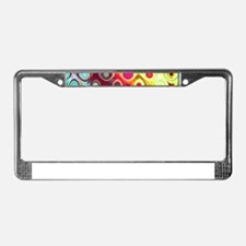 Megafunky Rainbow patterns License Plate Frame