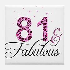 81 and Fabulous Tile Coaster