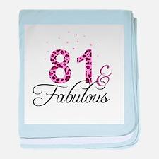 81 and Fabulous baby blanket