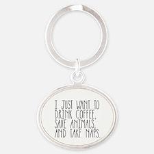 Take Naps Oval Keychain