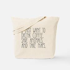 Take Naps Tote Bag