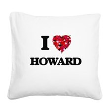 I Love Howard Square Canvas Pillow