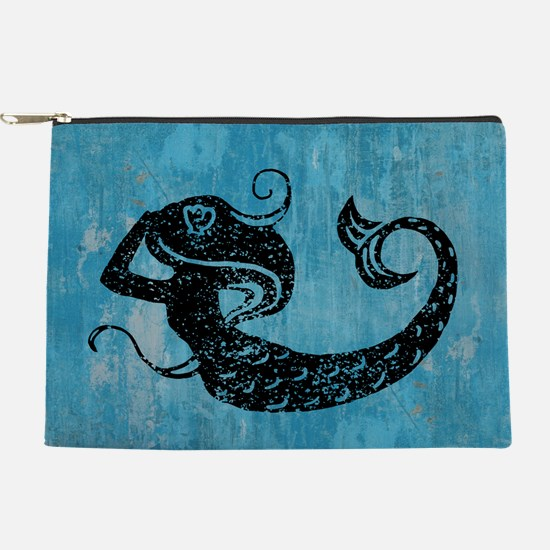 Worn Mermaid Makeup Pouch