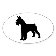 Giant Schnauzer Dog Oval Decal