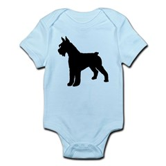 Giant Schnauzer Dog Infant Bodysuit