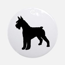 Giant Schnauzer Dog Ornament (Round)