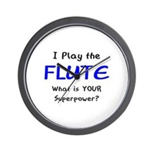 play flute Wall Clock