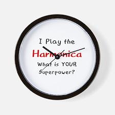 play harmonica Wall Clock
