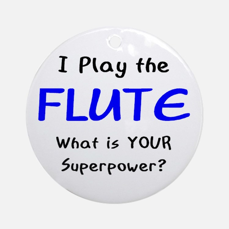 play flute Round Ornament
