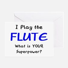 play flute Greeting Card