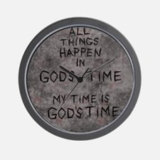 Gods time 1a.jpg Wall Clock