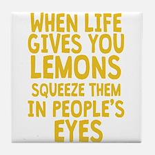 Antisocial Lemons Tile Coaster