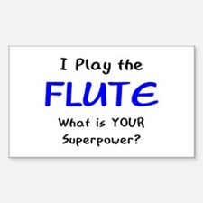 play flute Decal