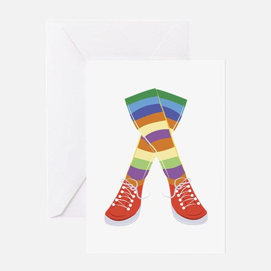 Colorful Socks Greeting Cards