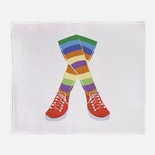 Colorful Socks Throw Blanket