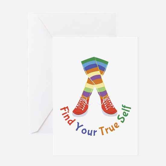 Find Your True Self Greeting Cards