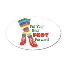 Put Your Best Foot Forward Wall Decal
