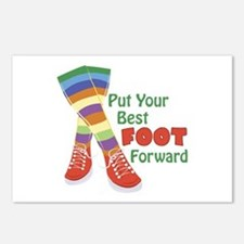 Put Your Best Foot Forward Postcards (Package of 8