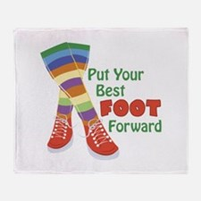 Put Your Best Foot Forward Throw Blanket