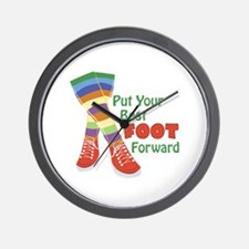 Put Your Best Foot Forward Wall Clock