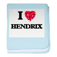 I Love Hendrix baby blanket