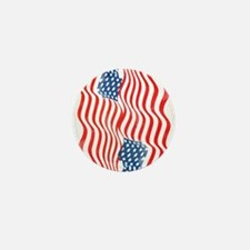 Fun Patriotic USA Flag Design Mini Button