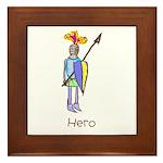 Kid Art Hero Knight Framed Tile