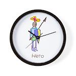 Kid Art Hero Knight Wall Clock