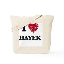 I Love Hayek Tote Bag