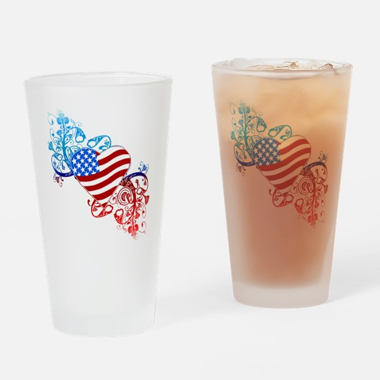 4th of July Fourth American Flag Drinking Glass