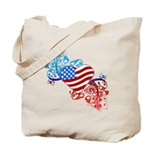 4th of July Fourth American Flag Tote Bag