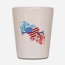4th of July Fourth American Flag Shot Glass