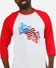 4th of July Fourth American Flag Baseball Jersey