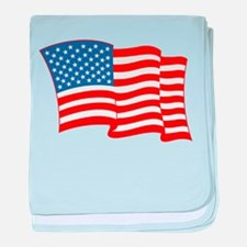 4th of July Fourth American Flag baby blanket