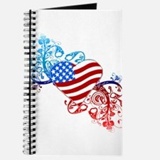 4th of July Fourth American Flag Journal