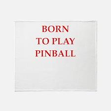 pinball joke Throw Blanket