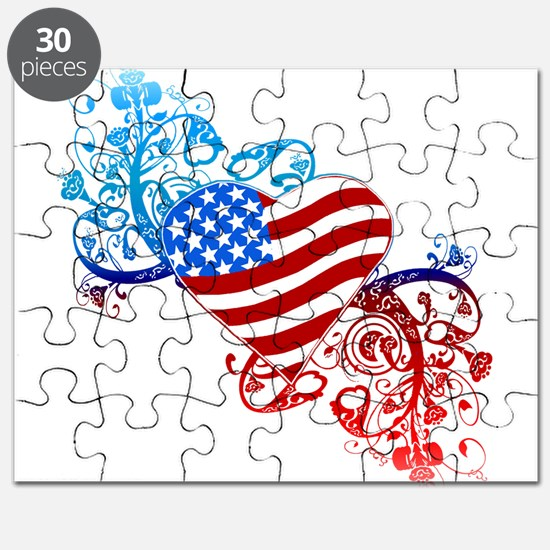 4th of July Fourth American Flag Puzzle