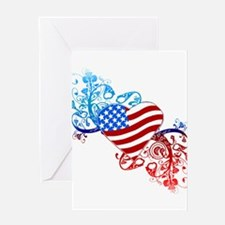 4th of July Fourth American Flag Greeting Cards