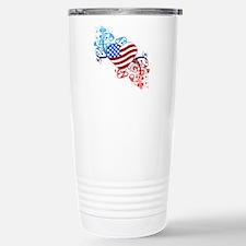 4th of July Fourth Amer Travel Mug