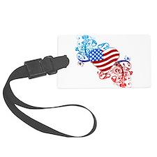 4th of July Fourth American Flag Luggage Tag