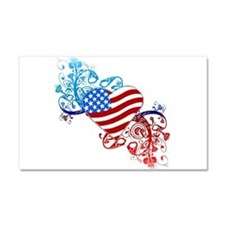 4th of July Fourth American Fla Car Magnet 20 x 12