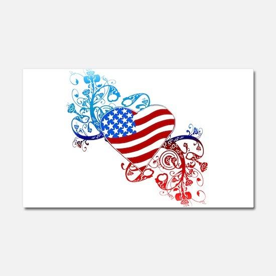 4th of July Fourth American Fla Car Magnet 20 x 12