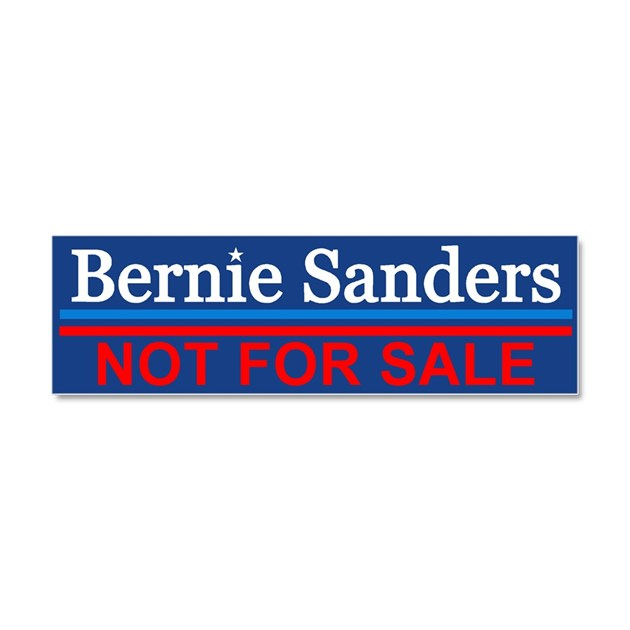 Bernie not for sale car magnet 10 x 3 by funnybumperstickers