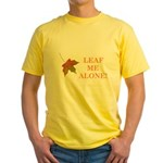 LEAF ME ALONE Yellow T-Shirt