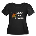 LEAF ME ALONE Women's Plus Size Scoop Neck Dark T-