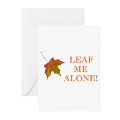 LEAF ME ALONE Greeting Cards (Pk of 10)