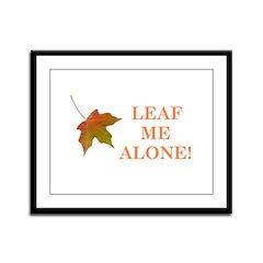 LEAF ME ALONE Framed Panel Print