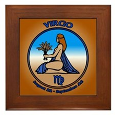 Virgo Art Framed Art Tile Astrology Gifts