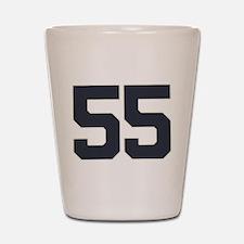 55 55th Birthday 55 Years Old Shot Glass